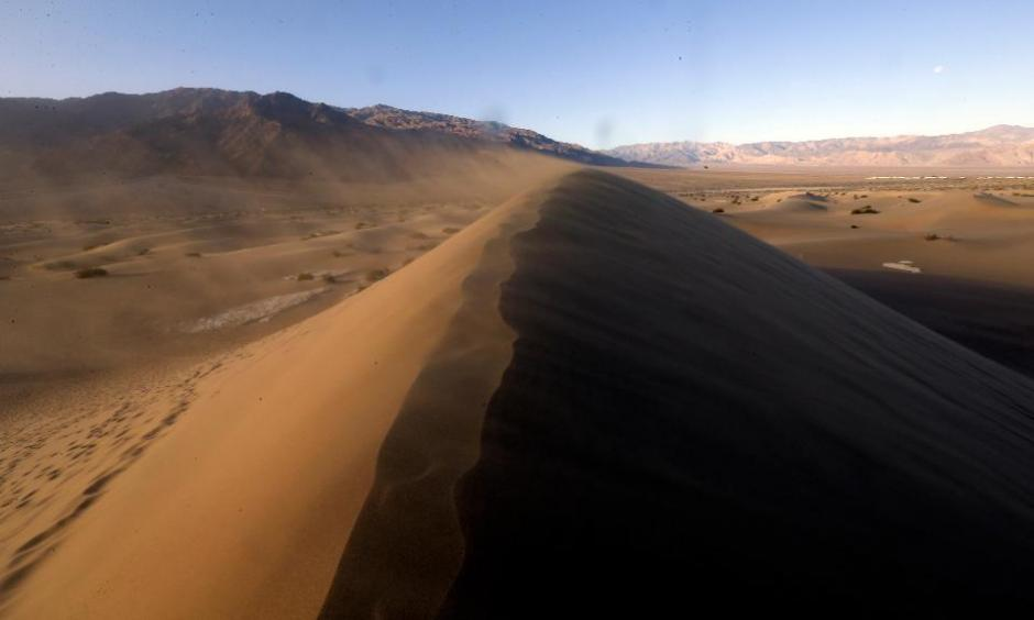 This photo from March 2016 shows the Mesquite Flat Sand Dunes in Death Valley, Calif. Photo: Nick Ut, AP