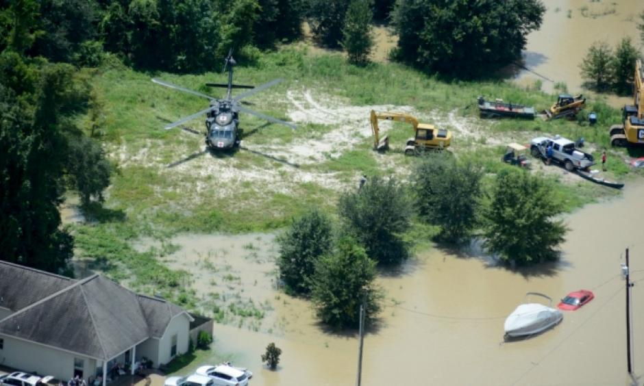 Flooding in Louisiana in August. Photo: Louisiana National Guard, Flickr