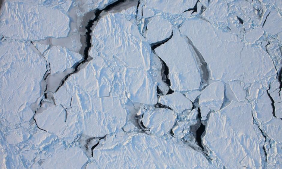 Arctic sea ice reached a new record low for January last month. Photo: NASA