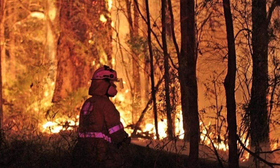 A fire rages in Western Australia's south-west in 2015. Photograph: AAP