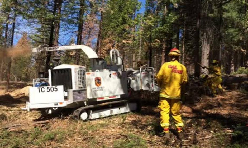 Cal Fire building fuel breaks throughout Sierra Nevada mountains. Photo: Fresno Bee