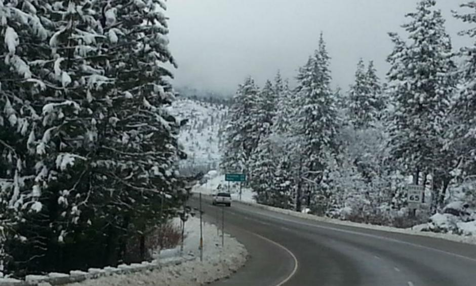 Freshly plowed Interstate-80, within the Tahoe National Forest in California, after a snow storm in December 2015. Credit: Ed Joyce / Capital Public Radio