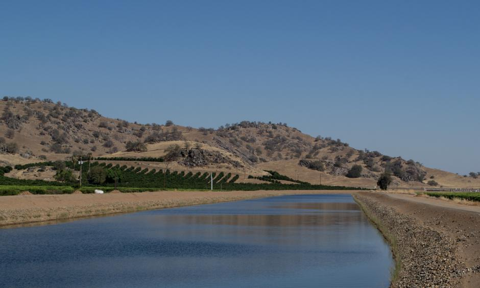 Friant-Kern canal, the usual source of irrigation for the groves, (Image: Don Barrett, Flickr)