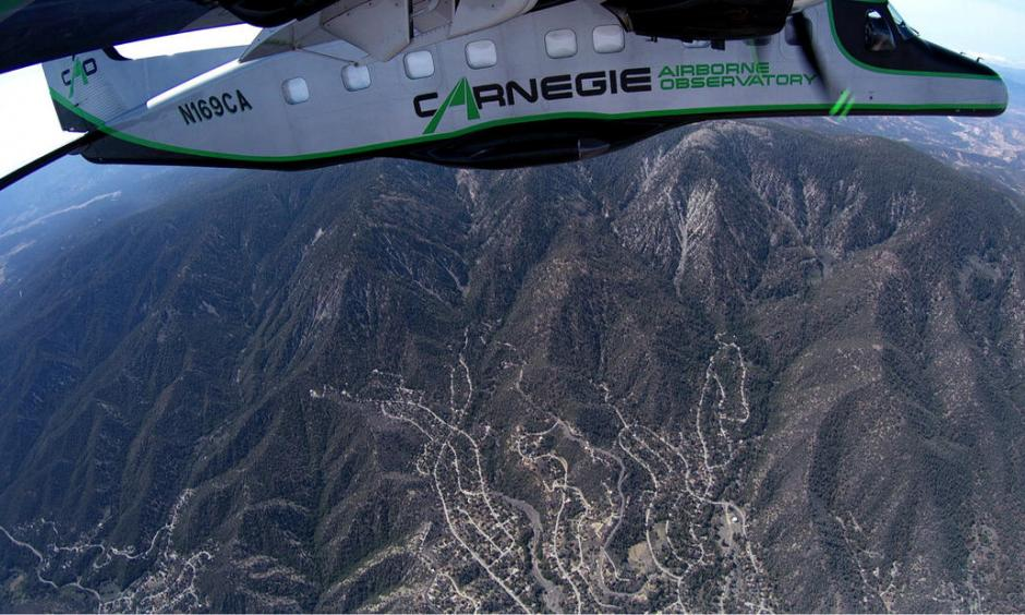 Flying above the Los Padres National Forest, Greg Asner and his team recorded drought-stressed trees. Photo: Carnegie Institution for Science