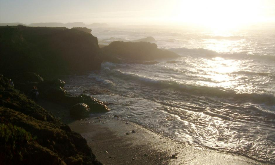 Waves on a California beach. Image credit: mlhradio, Flickr