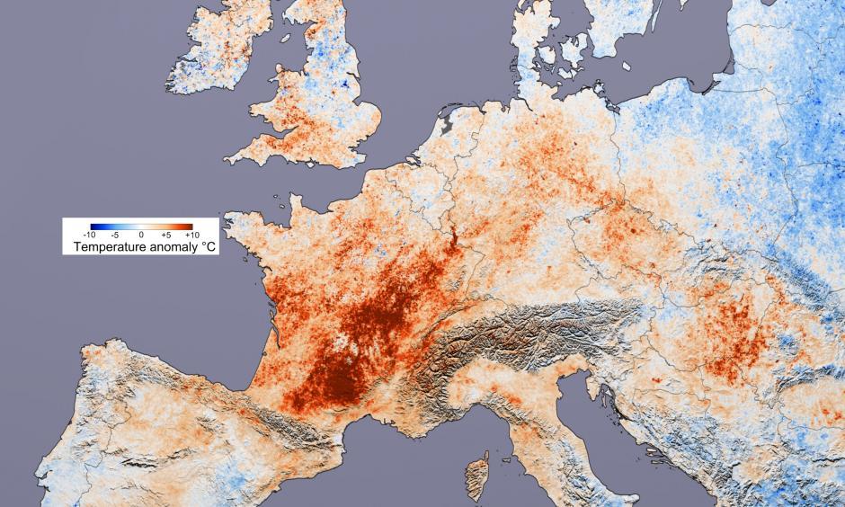 2003 heat wave over Europe. Photo: Wikipedia