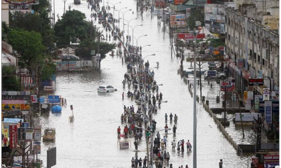 Chennai has been battered by record-breaking rainfall that continues to pound the city. The deluge has raised many questions about the catastrophe. Image: ET