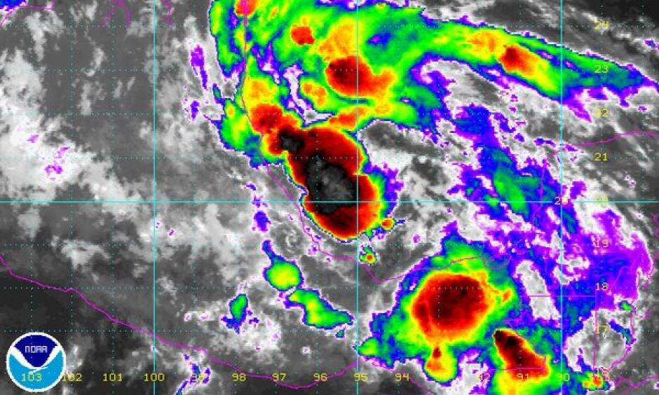 Danielle has formed in the Bay of Campeche - the earliest 4th named storm on record (old record was 6/23 in 2012). Image: NOAA