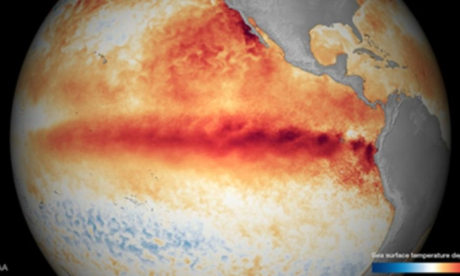 El Niño conditions normally reach maximum strength between October and January, then persist through much of the first quarter. Image: NOAA