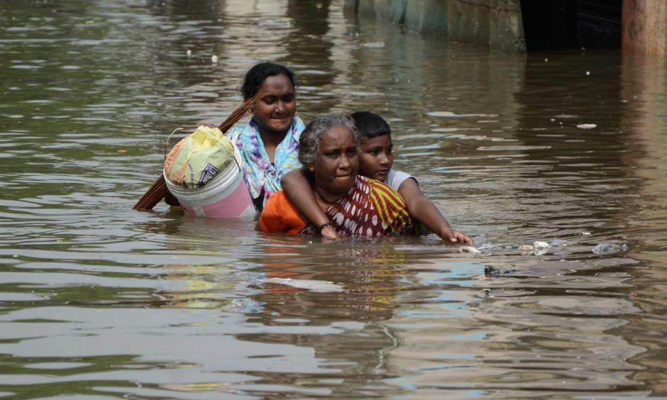 The El Niño effect is said to have contributed to the serious flooding in Chennai, India Getty Images