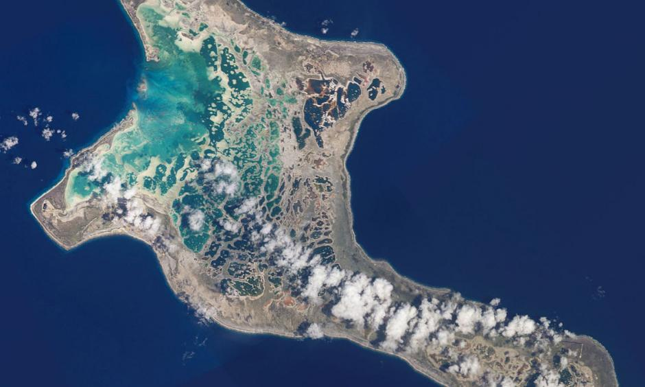 A view of Christmas Island from space. Credit: NASA