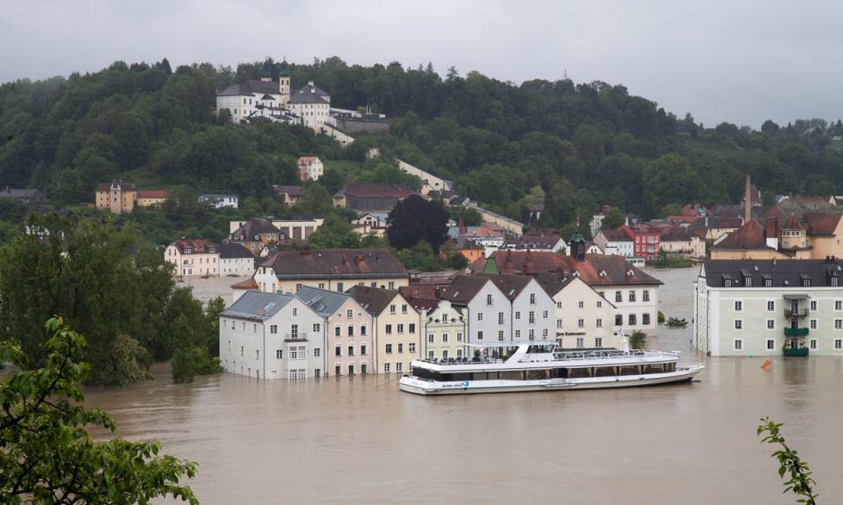 Flooding in Passau, Bavaria. Photo: Stefan Penninger
