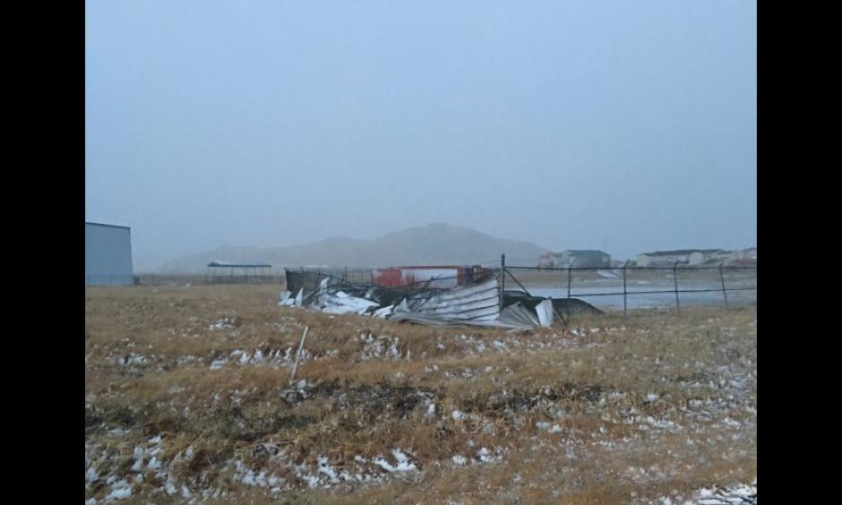 The City of Adak released these images on Tuesday, Dec. 15, 2015 of damage from a storm that brought 122 mph wind gusts to the Aleutian Islands community over the previous weekend. Photo: City of Adak