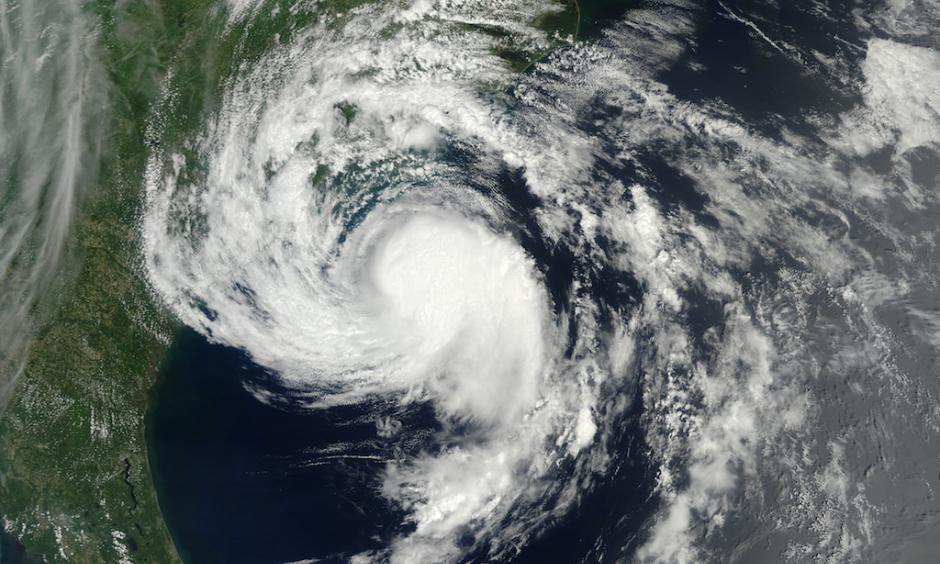 Tropical Storm Ana as it headed toward landfall in South Carolina on May 9, 2015, a somewhat unusual pre-season Atlantic storm. Credit: NASA
