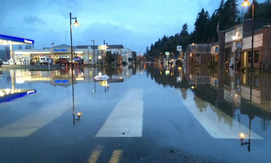 Heavy rain brought floods and landslides to Southwest Washington this week, and the city of Kalama took a big hit. Photo: Tim Gordon, KGW