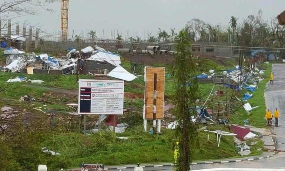 The new hospital in the town of Ba lays ruined after Cyclone Winston swept through Fiji's Viti Levu Island, February 21, 2016. Photo: Jay Dayal/Handout, Reuters