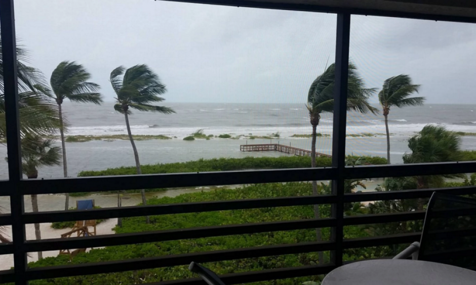 Strong winds in Fort Myers Beach, Fla., from Tropical Storm Colin on June 6. Photo: Mary Southard via Facebook