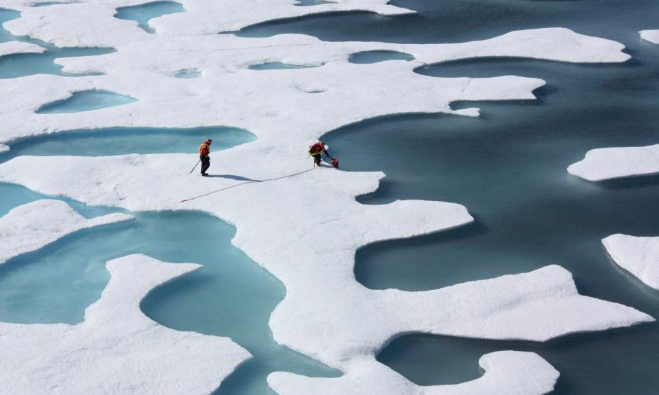 An area of Arctic sea ice about twice the size of Texas has vanished over the last 30 years, and the rate of that retreat has accelerated. Photo: NASA/Reuters