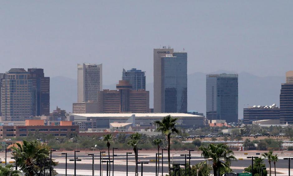 A view of Phoenix, where the boy fell ill. Photo: Matt York / AP