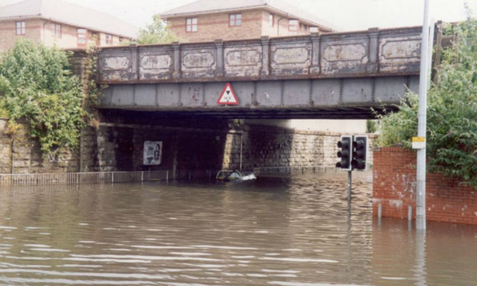 Flooding in Cardiff (Image:Geograph)