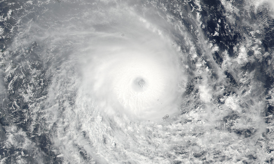 Tropical Cyclone Winston is expected to make landfall on Fiji's main island Saturday night, local time (Saturday morning, Eastern Time), as a strong Category 4 on the Saffir Simpson Scale. There is no record of a hurricane so strong making landfall on Fiji's main island. Photo: NASA