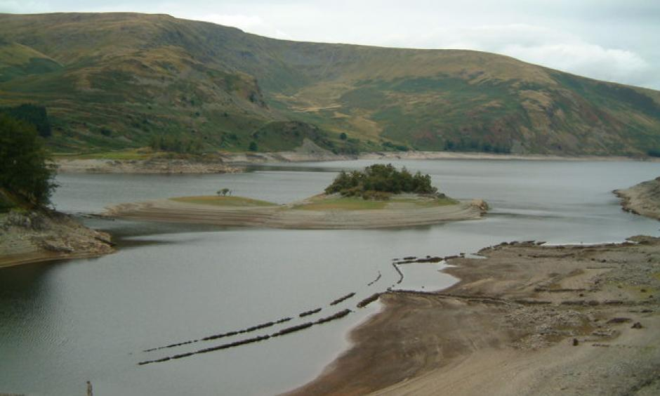 The United Kingdom's Haweswater Reservoir in September during the 2003 European heat wave. Photo: John Douglas