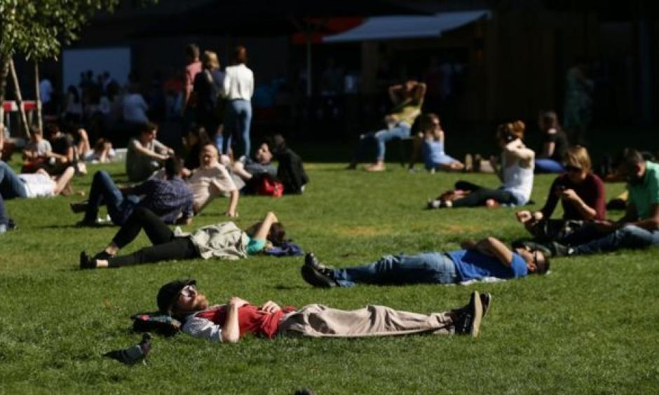 Public Health England said people should think about what they could do to stay cool during the heatwave. Photo: BBC