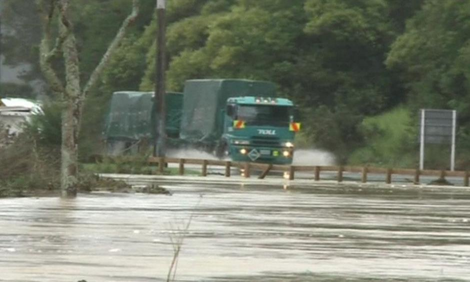 Roads were also flooded in Kaeo, north of Auckland. Photo: TVNZ, Reuters