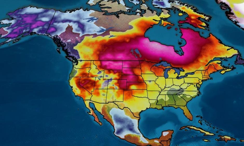 warm winter temperatures across the US