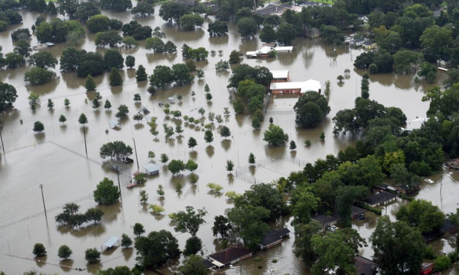This aerial image shows flooded areas of North Baton Rouge, La., Saturday, Aug. 13, 2016. Louisiana Gov. John Bel Edwards says more . Photo: Patrick Dennis, AP