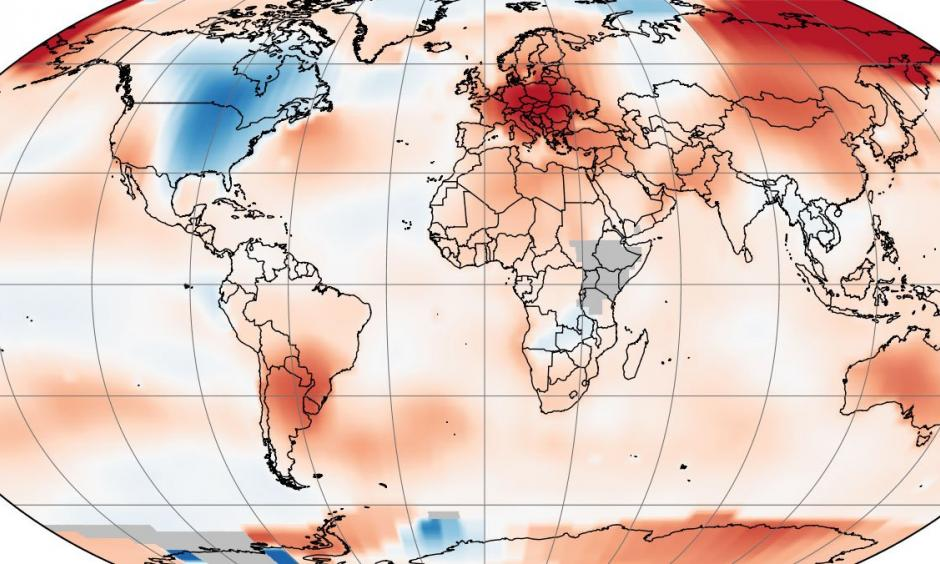 Across the Globe, April 2018 Ranked as 3rd Warmest April on Record.