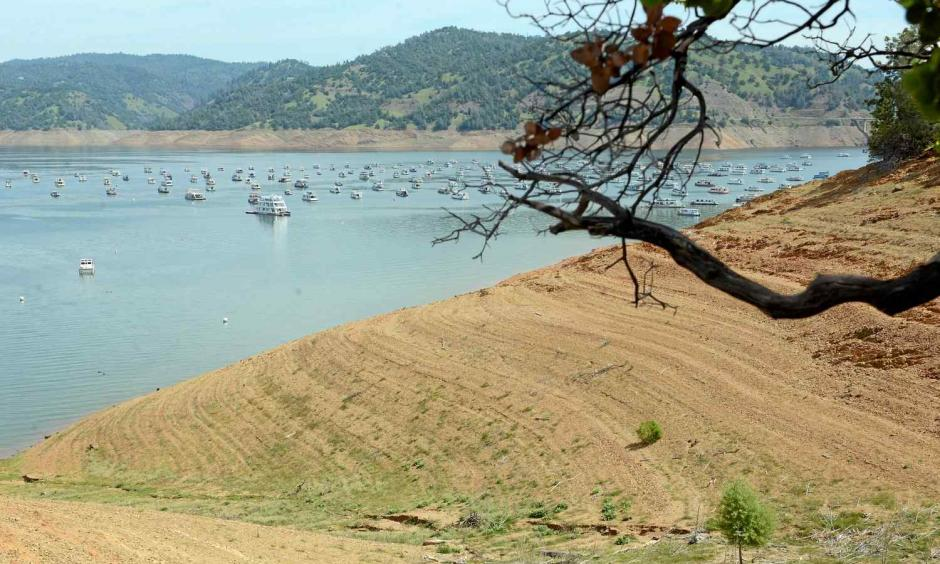 Lake Oroville has risen quite a bit the past couple of months but the drought is still evident looking toward the boat ramp at Bidwell Marina in Oroville Calif. Friday May 2, 2014. Photo: Bill Husa, Enterprise-Record