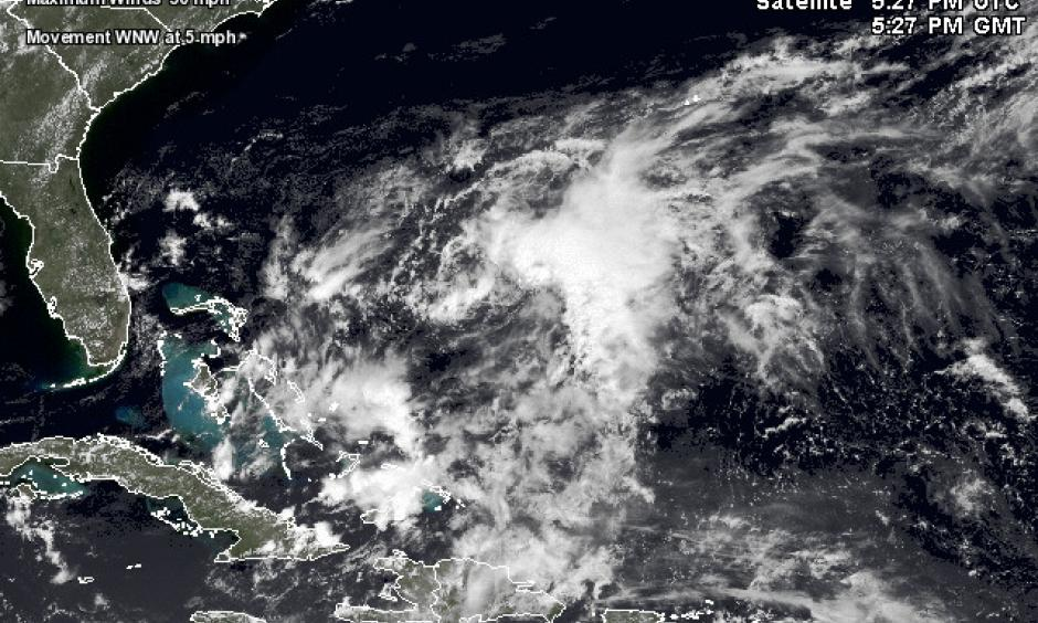 Satellite image of 91L Image: Wunderground