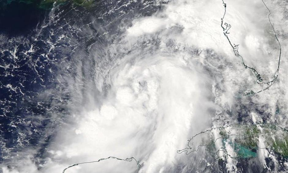 MODIS visible satellite image of Hermine on Wednesday afternoon, August 31, 2016. Image: NASA