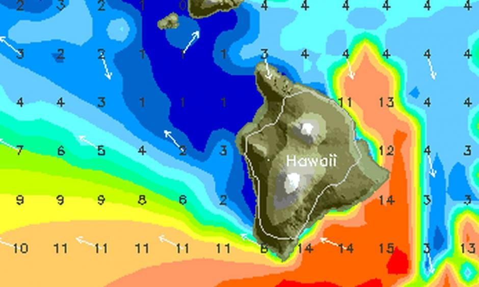 Swell forecast as Hurricane Lane passes Hawaii early to middle of next week. Credit: stormsurf.com