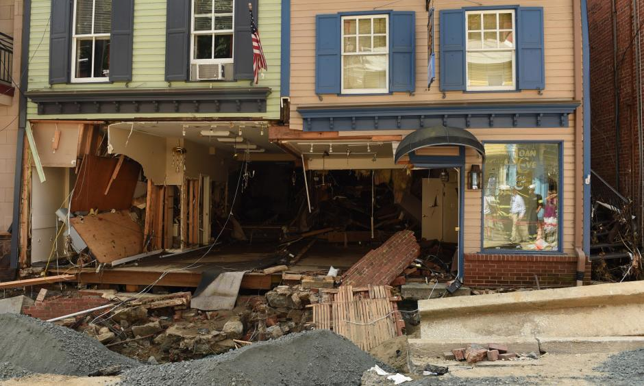 Heavy rain Saturday led to dramatic flooding scenes and property damage in both Ellicott City and Baltimore. Photo: Baltimore Sun