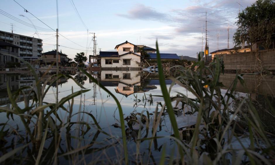 Flooding in Okayama, Japan. Photo: Getty