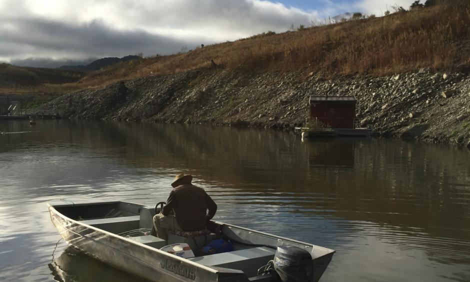 Nick Giese heads out to fish on Southern California's Lake Cachuma. With the reservoir more than 90 percent below capacity, the surrounding region soon will face a water crisis. Photo: Darryl Fears, The Washington Post