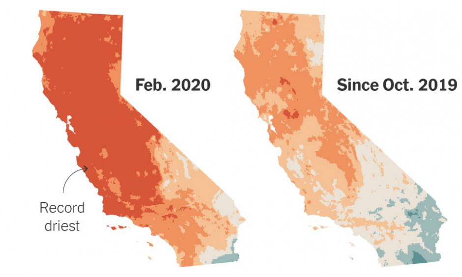 Climate change is increasing drought risk in California