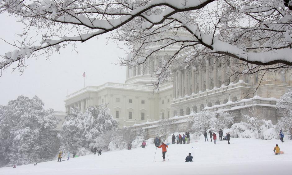 Sledding at the Capitol during Snowmageddon. Photo: Ian Livingston