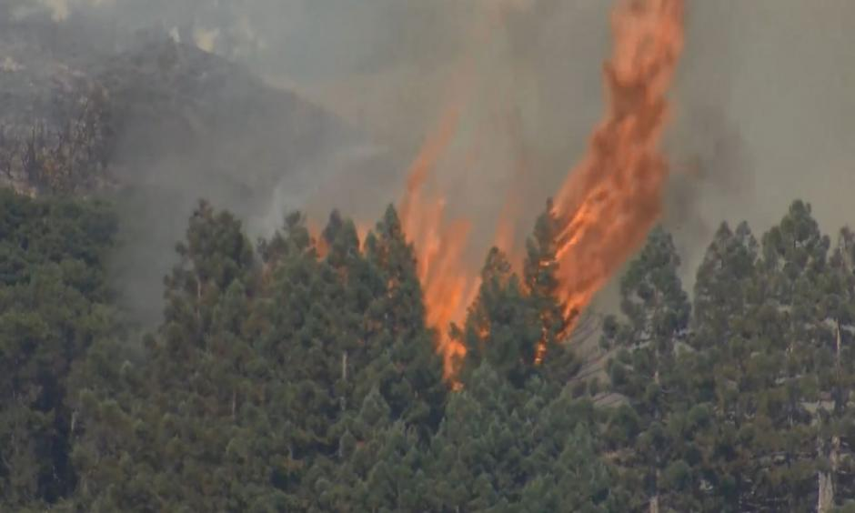 Soberanes Fire burning near Big Sur in Monterey County. Photo: CBS
