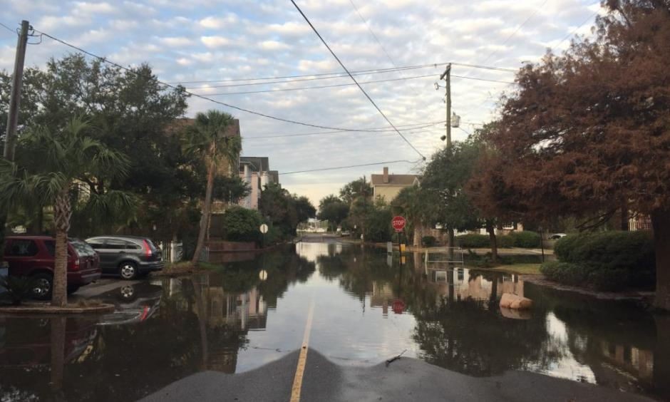In most locations, the highest tides will lag behind the full moon by a day or two. For example, while the supermoon is Monday, November 14, the highest tides in Boston are expected on Wednesday, November 16. Tidal flooding in South Carolina is not expected to peak until Tuesday, though flooding had begun in Charleston, shown here, this past Saturday. Photo: Charleston Waterkeeper