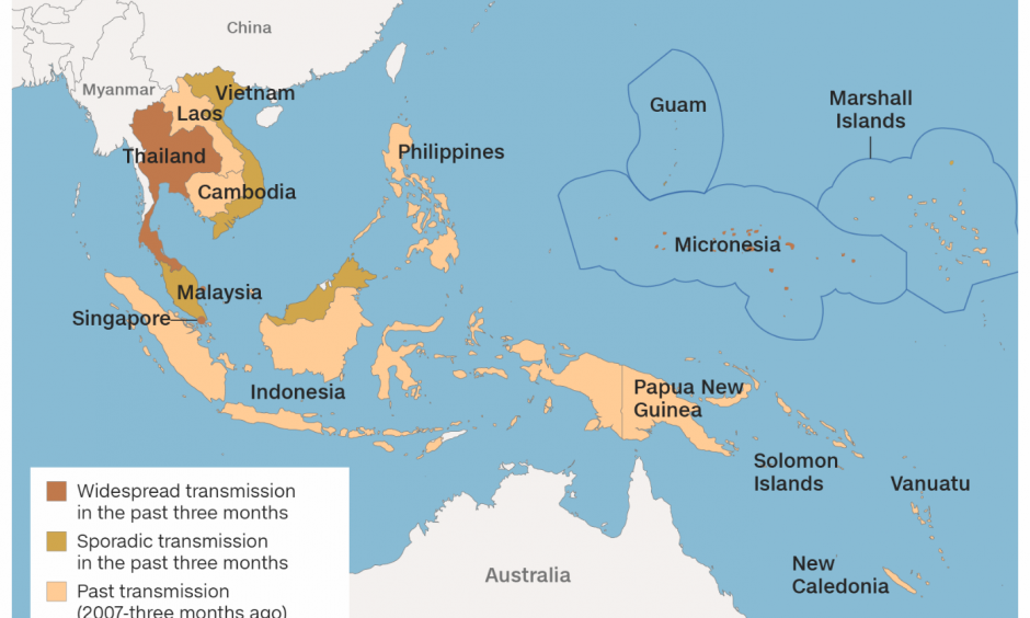 How Zika is spreading in Asia Pacific. Image: CNN