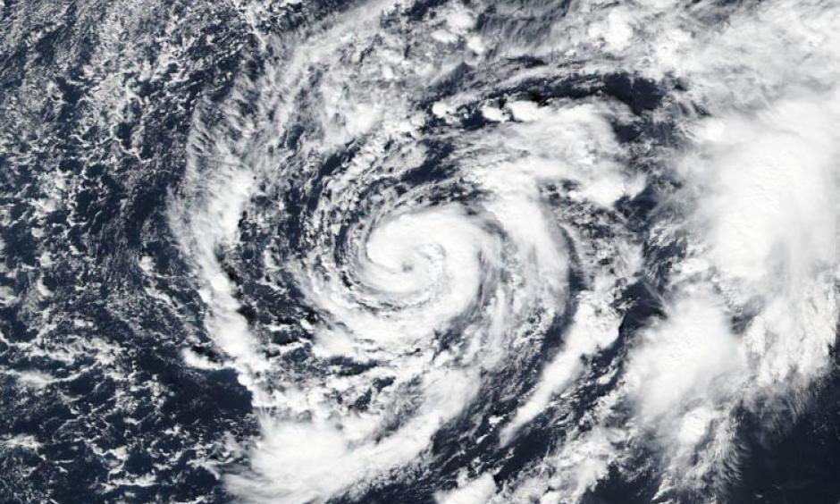 Satellite image of Subtropical Storm Alex on the afternoon of January 13, 2016. Image: NASA Worldview.