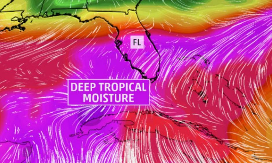 Deep Tropical Moisture after Tropical Storm Colin. Image: The Weather Channel