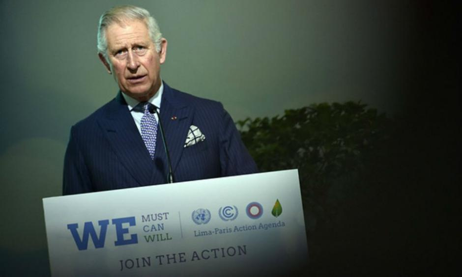 Prince Charles calls climate change the root cause of an 'accelerating economic, social and environmental disaster'. Photograph: Loic Venance/AFP/Getty Images