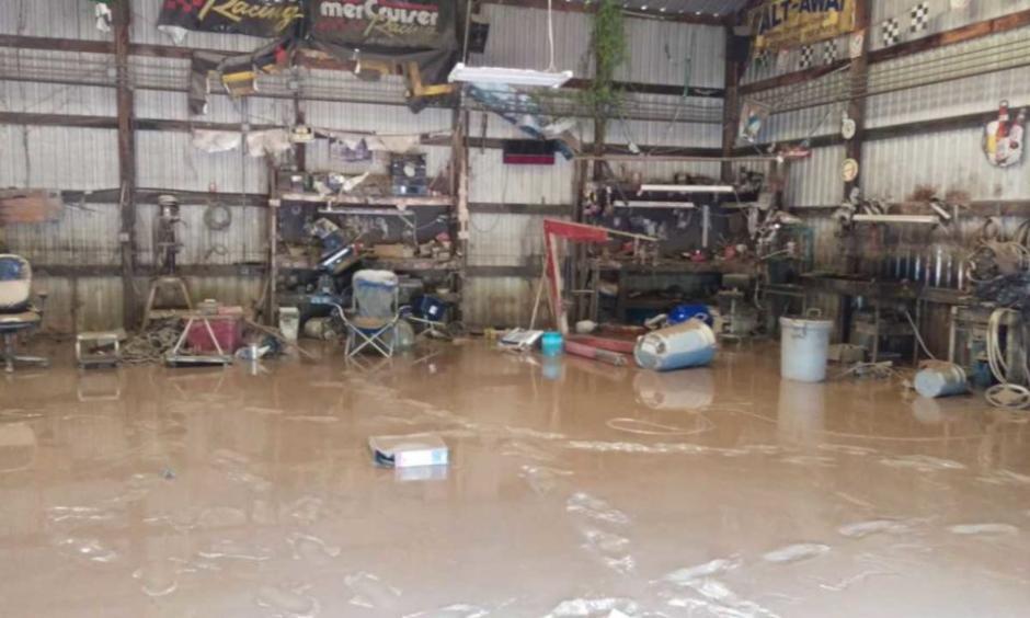 Texas resident Greg Moss's home flooded after Harvey. Photo: Greg Moss