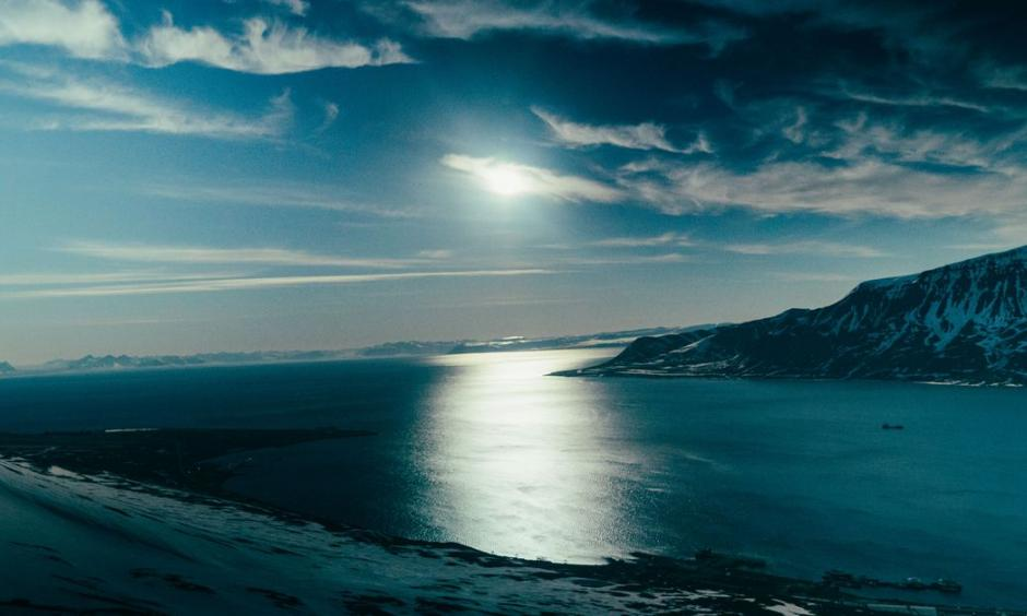 The summer sun over Svalbard, Norway, an arctic archipelago that's rapidly changing due to climate change. Photo: Johnny Harris / Vox