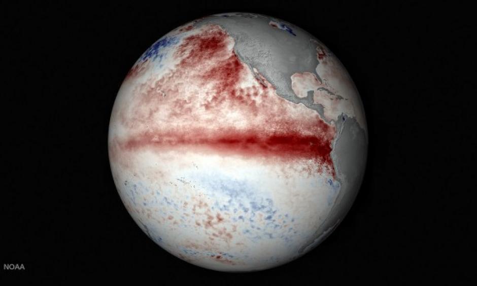 A visualization of El Nino. Image: Stuart Rankin, NOAA