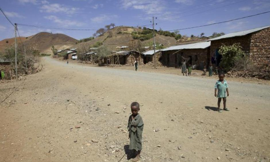 Children in the village of Tsemera in Amhara region, Ethiopia, February 12. Ethiopia is facing its worst drought in around 50 years, largely due to the El Nino weather event. Photo: Katie Migiro, Reuters